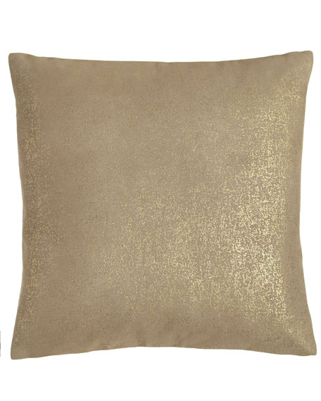 Donna Karan Home Opal Essence Metallic Leather Pillow,
