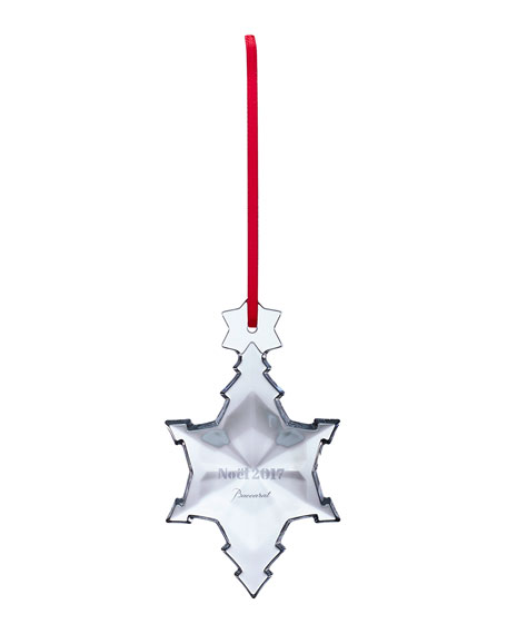 Baccarat 2017 Annual Noel Crystal Ornament, Clear