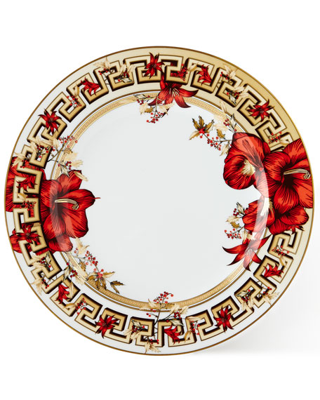 Christmas Blooms Dinner Plate