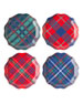 Juliska New Traditional Tartan Salad/Dessert Plates, Set of