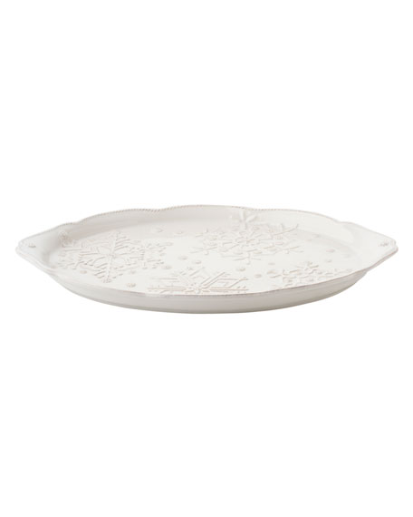 Juliska Berry & Thread Snowfall Whitewash Platter