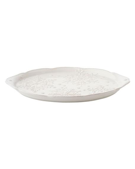 Juliska Berry & Thread Snowfall Whitewash Platter