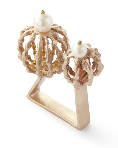 Tangier Napkin Ring, Gold