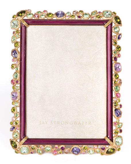 "Leslie Bejeweled Picture Frame, 5"" x 7"""
