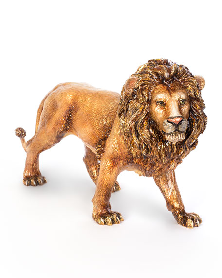 Stalking Lion Figurine