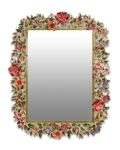 Leaf Flower Mirror