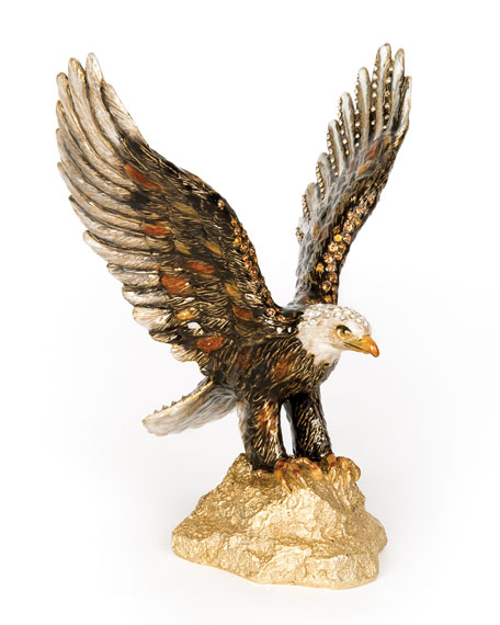 Jay Strongwater Lincoln Eagle Figurine