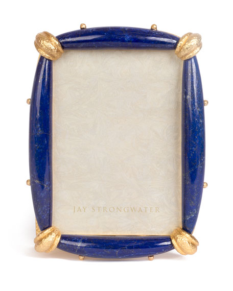 Jay Strongwater Priscilla Lapis Picture Frame, 5