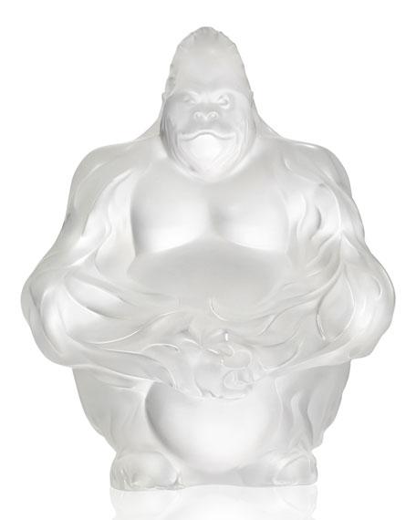Crystal Gorilla Sculpture/Figurine, Clear
