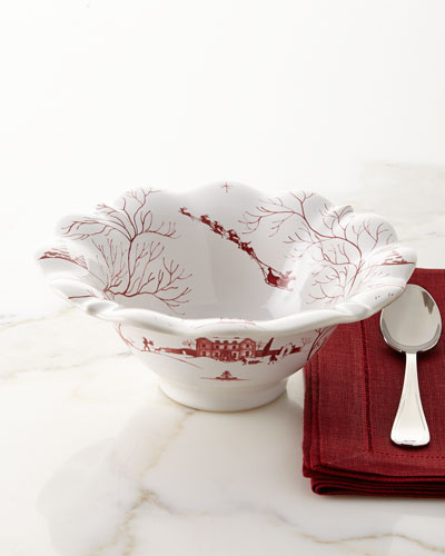 Country Estate Winter Frolic Bonbon Christmas Eve Bowl