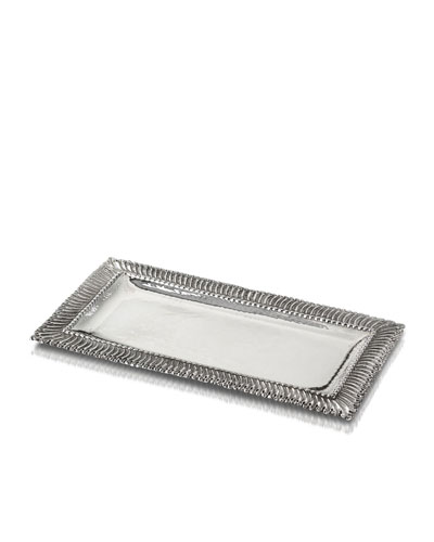 Rouche Sterling Silver Letter Tray