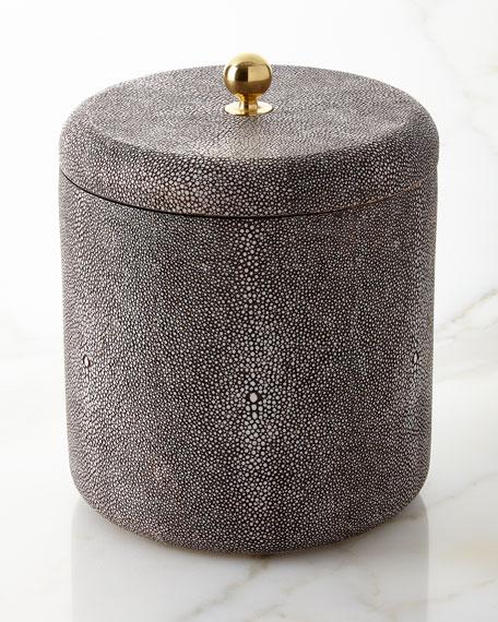 Shagreen Ice Bucket, Chocolate