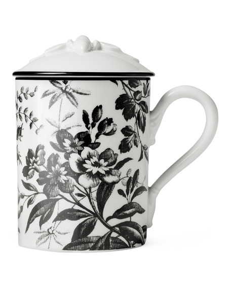 Bee Floral Mug with Lid