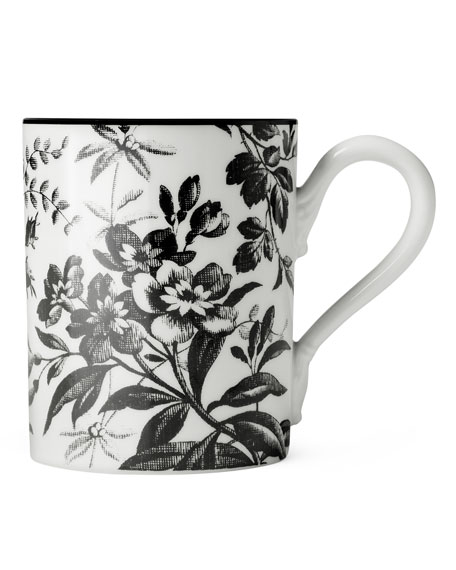 Hand and Ring Floral Mug with Lid