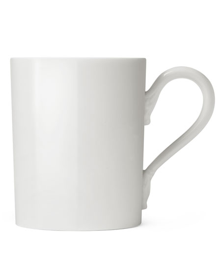 Porcelain Mug with Ring & Hand Lid