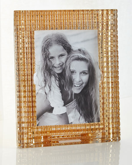 "Eye Crystal Frame, Golden - 5"" x 7"""