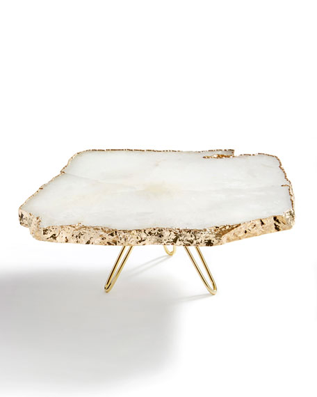 ANNA by RabLabs Torta Gold-Plated Cake Stand