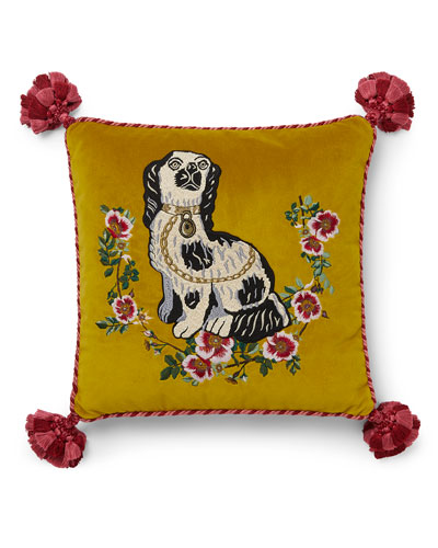 Dog Velvet Cushion