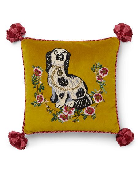 Gucci Dog Velvet Cushion