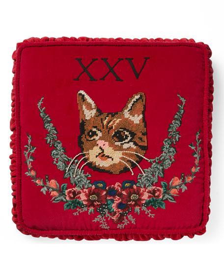 XXV Velvet Cat Cushion