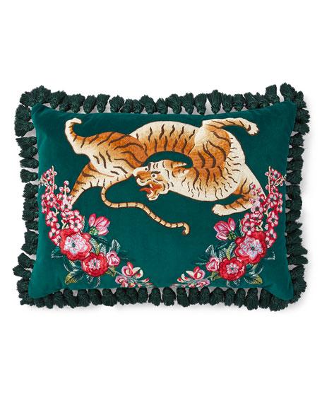 Tiger Tassel Cushion