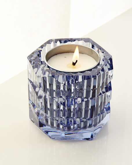 Baccarat Eclat De Nuit Crystal Candleholder, Blue