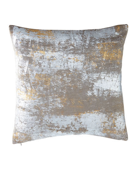 Michael Aram Distressed Metallic Velvet Pillow, 20