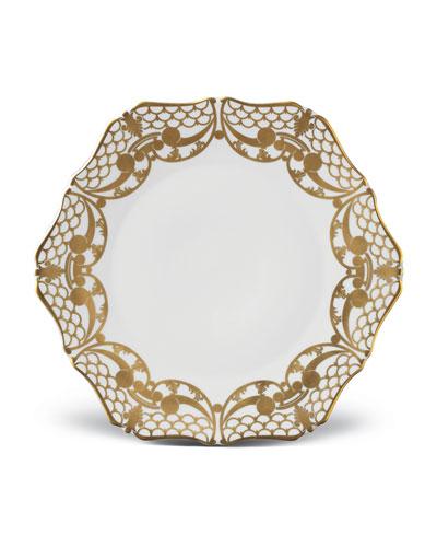 Four Alencon Dinner Plates