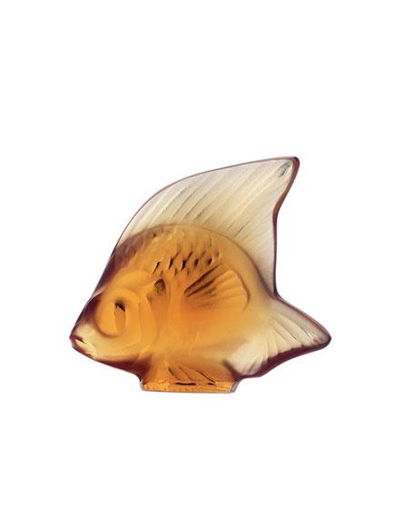 Lalique Amber Angelfish Figurine