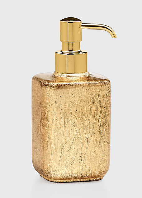 Ava Soap Pump Dispenser, Gold