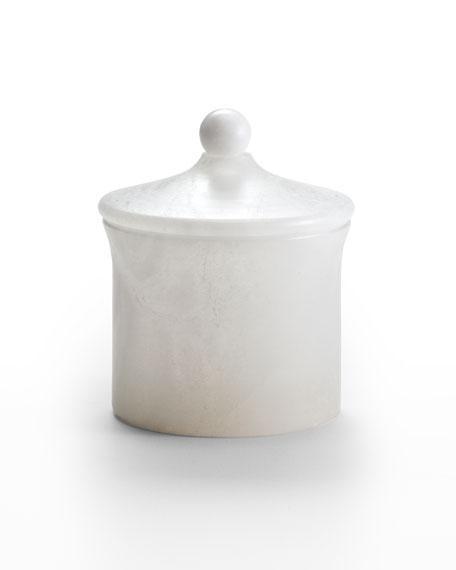 Alisa Alabaster Bath Canister, White