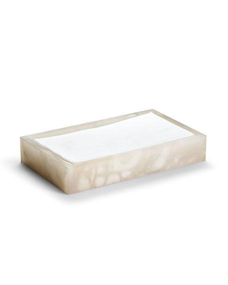 Alisa Alabaster Towel Tray, Cream