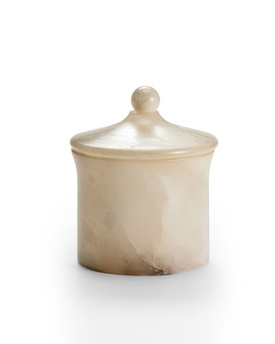 Alisa Alabaster Bath Canister, Cream