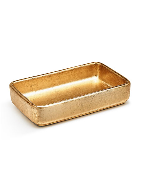 Ava Towel Tray, Gold