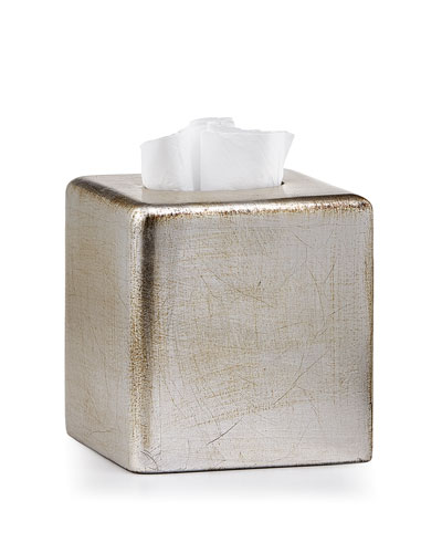 Ava Tissue Box Cover, Silver