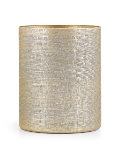Woven Metallic Wastebasket