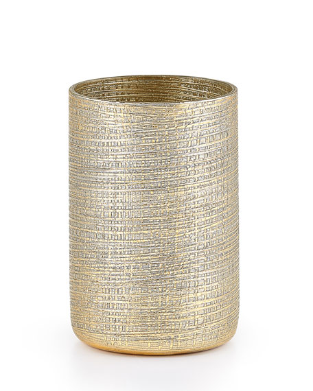 Labrazel Woven Metallic Brush Holder