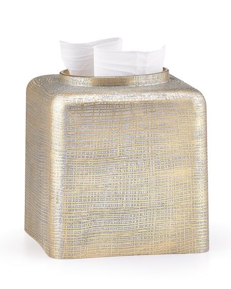 Woven Metallic Tissue Cover