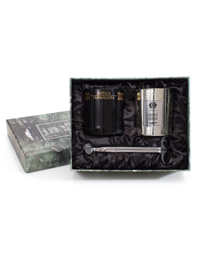 Candle Gift Set with Wick Trimmer - Champagne and Silver Cedar, 9.0 oz./ 255 g
