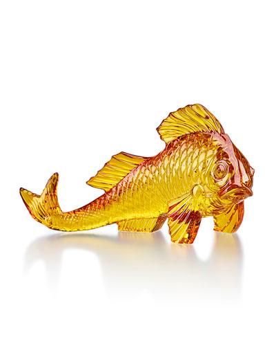 Amber Carp Figurine