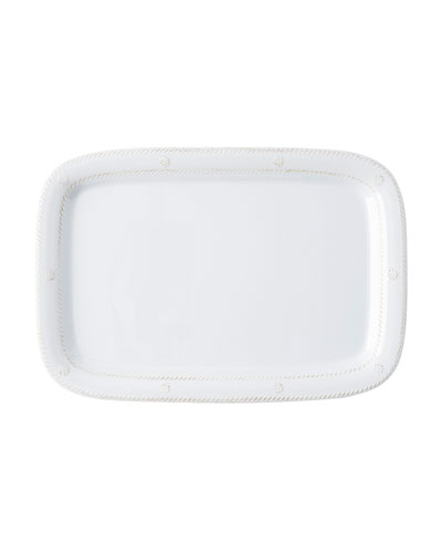 Melamine Whitewash Serving Tray, 16