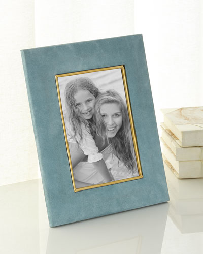 AZURE Valentina Suede Picture Frame, 5