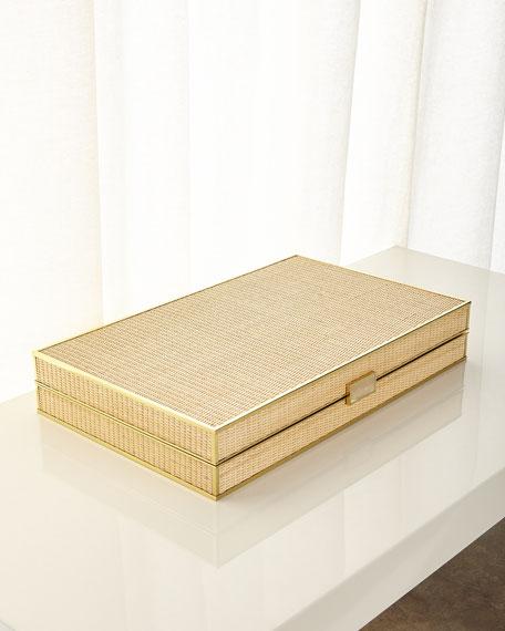 Cane Backgammon Set