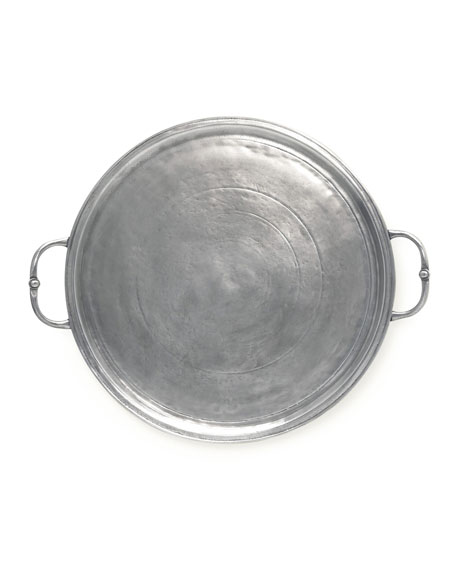 Small Round Tray with Handle