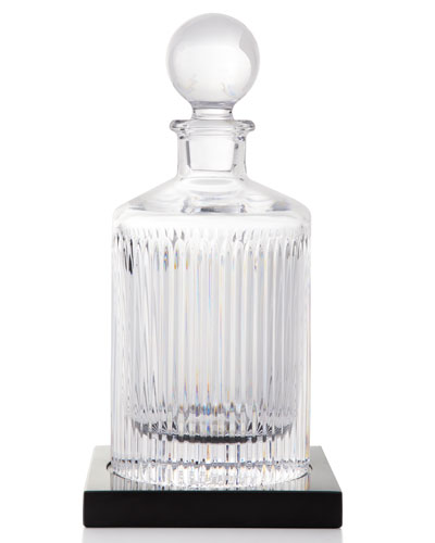 Aras Round Decanter with Marble Coaster