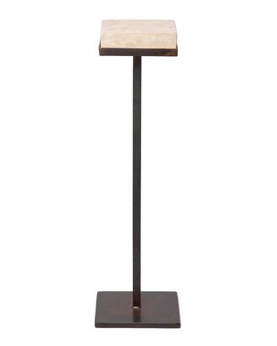 Bebida Hand-Carved Stone-Top Side Table