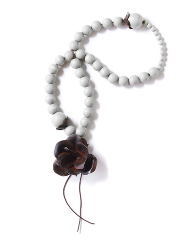 Guadalupe Blessing Beads, White