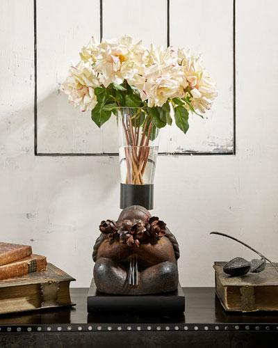 Coquetita Sculpture with Glass Vase