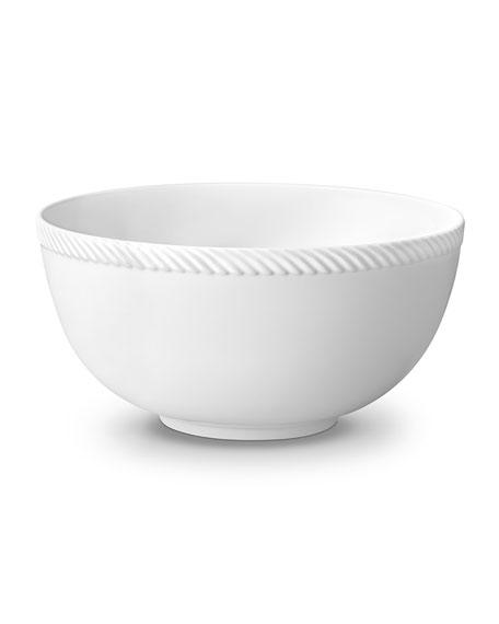 L'Objet Corde Large Bowl, White