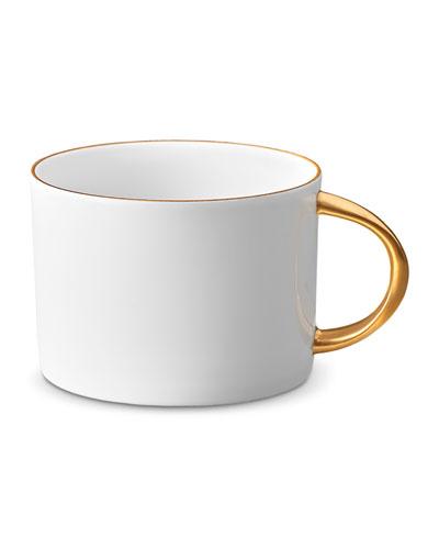 Corde Tea Cup, White/Gold